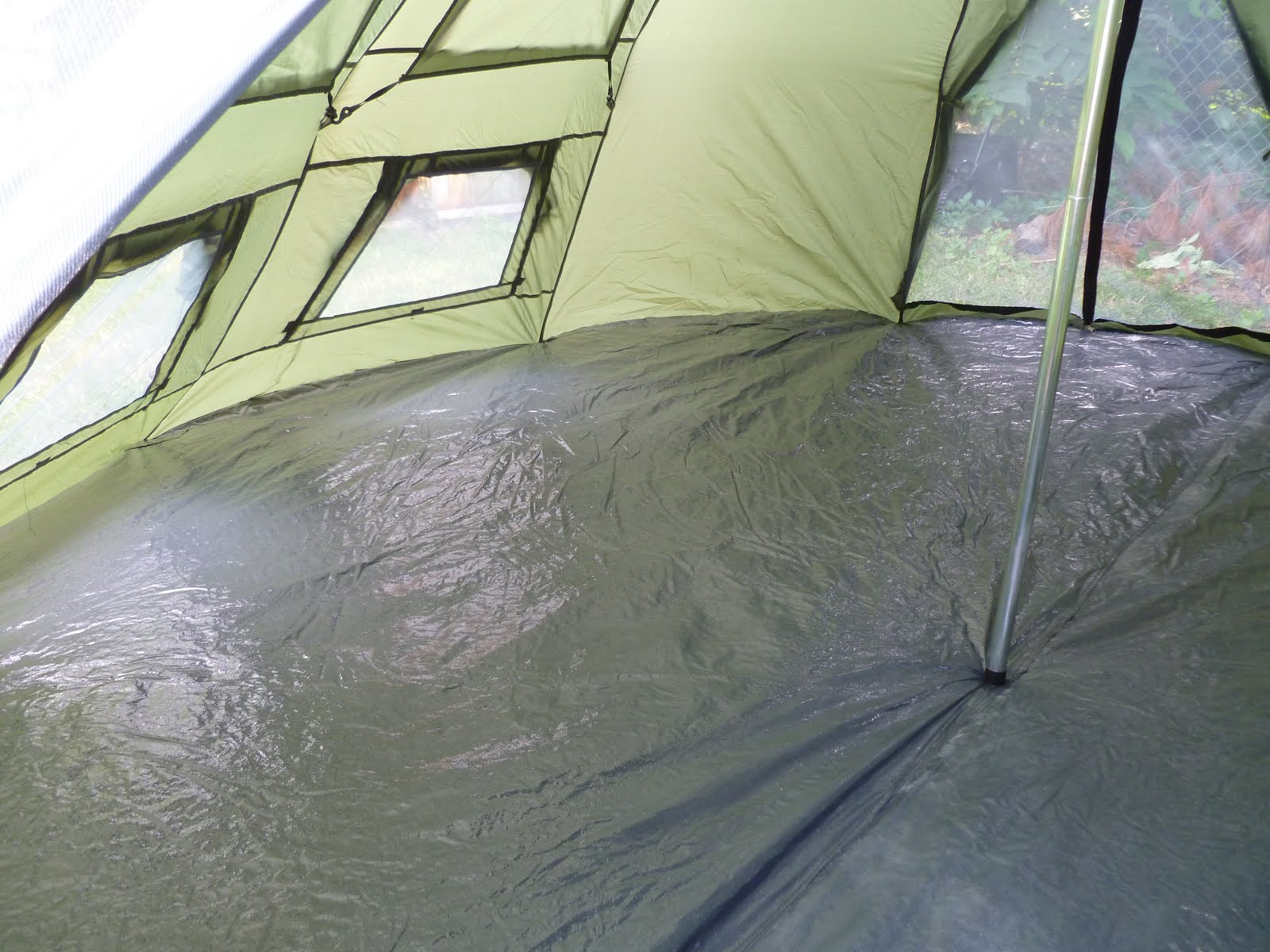 guide gear teepee tent - inside