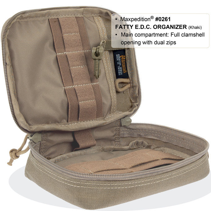 maxpedition fatty pocket organizer inside