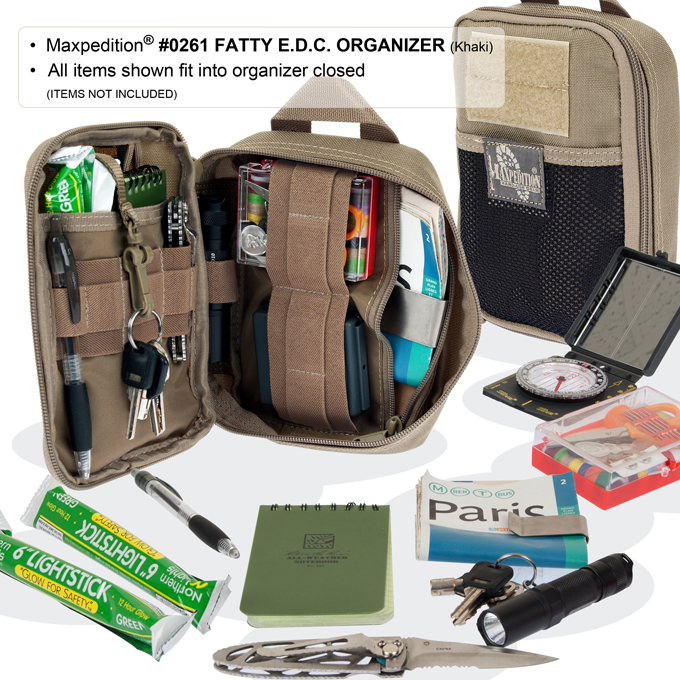 maxpedition fatty pocket organizer loaded